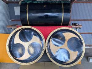 南部屋五郎右衛門の和太鼓大締桶胴太鼓 4尺を買取致しました。